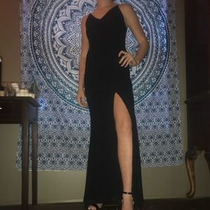 Lulus's Black Lacey Formal Dress
